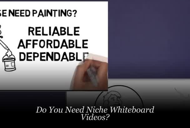 give You 3 Professional WhiteBoard Animations