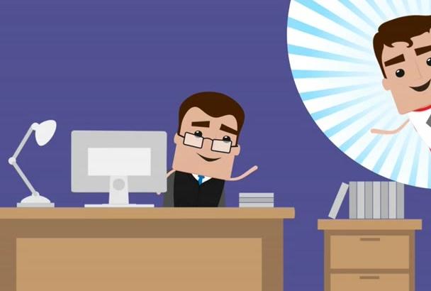 create 2D Cartoon Animated Video