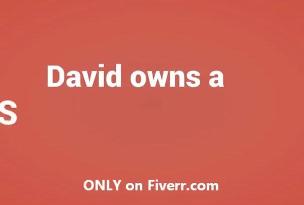 create this fun David animation video