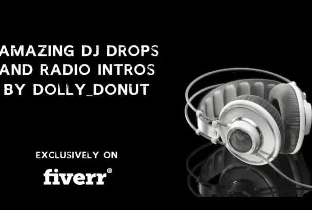 record professional DJ drops in a British accent