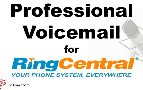 create an American Professional Female Voicemail for Ring Central