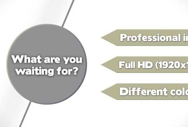 create this explainer video TEMPLATE