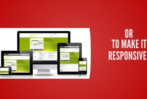 fix responsive HTML css