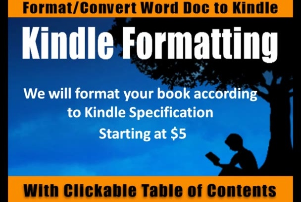 format convert Your Word doc Professionally to Kindle format