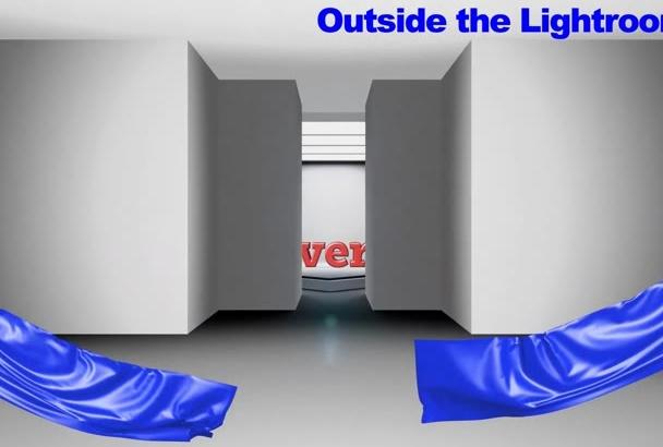 reveal Your Product ,Logo,Tagline in Dark Lightroom