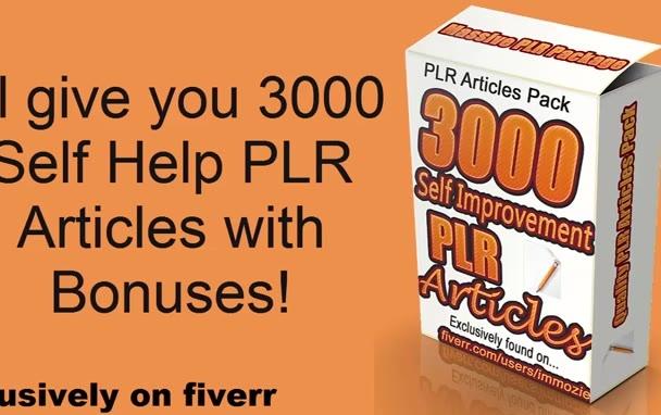 give you 3000 self improvement PLR articles