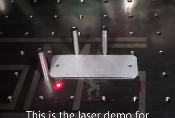 laser a keychain with a name and logo of choice