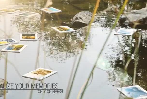 make your digitalized album floating on calm river