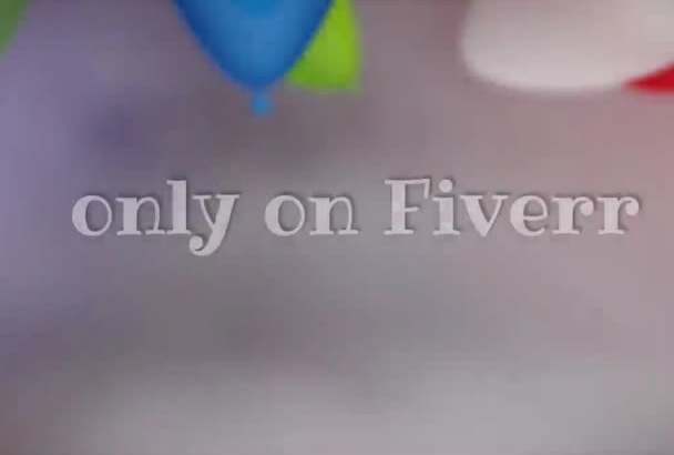 create this nice personal birthday balloons video