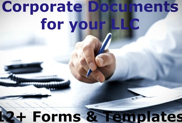provide corporate documents for your LLC