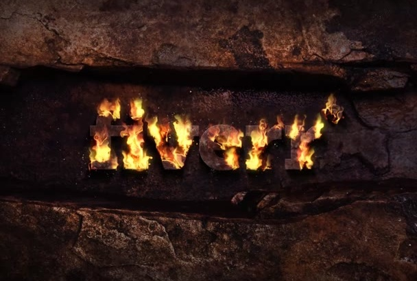 make Fire LOGO Intro in just