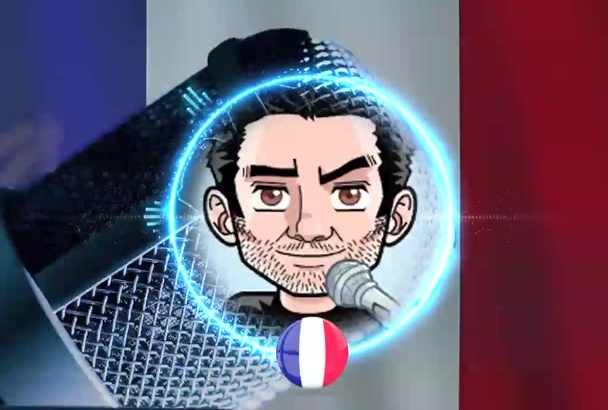 record a deep male voice over in French or English