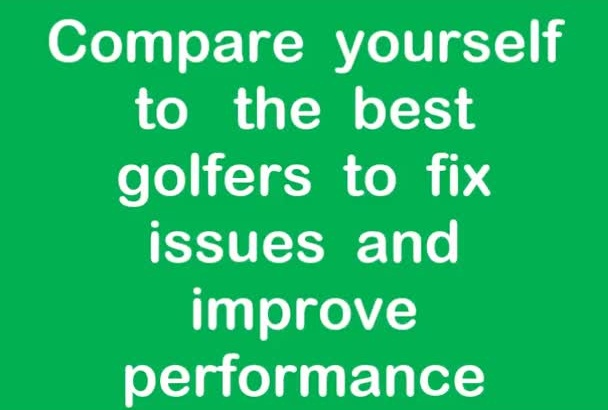 provide video  analysis of your golf game