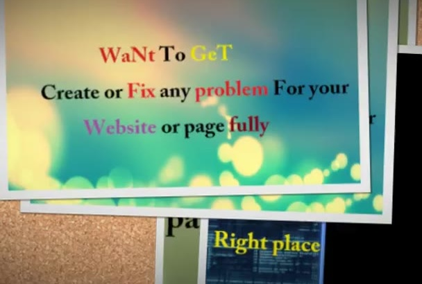 create or Fix any problem For your Website or page fully