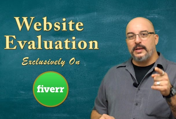 evaluate your website and make suggestions