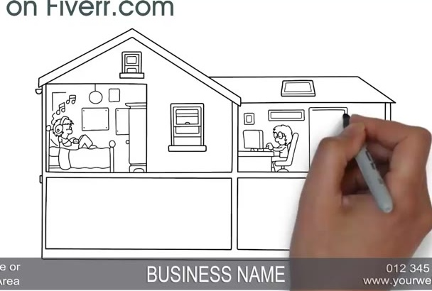 make this Buying Real Estate Whiteboard Video