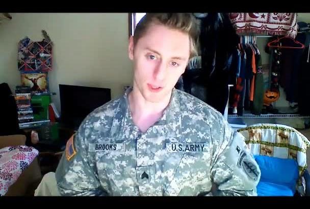 create an amazing testimonial in Army uniform