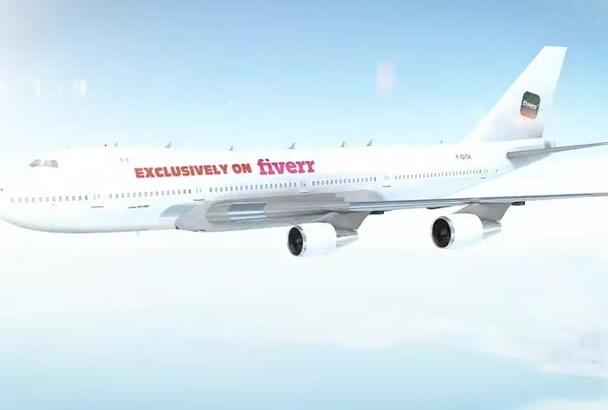 create a stunning Airplane intro logo reveal