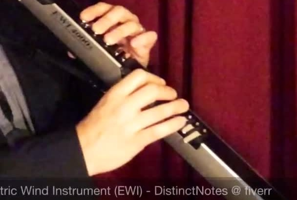 play Electric Wind Instrument, aka EWI, and record one track for your song