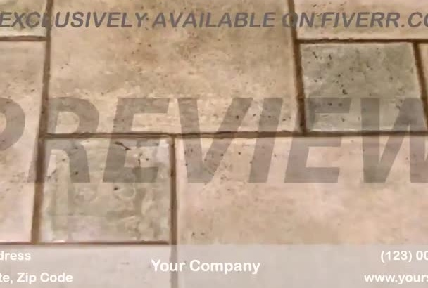 brand a video customized for Tile and Grout Cleaning