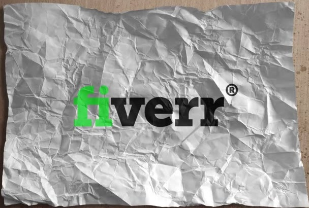 edit This STOPMOTION Crumpled Paper Logo Video