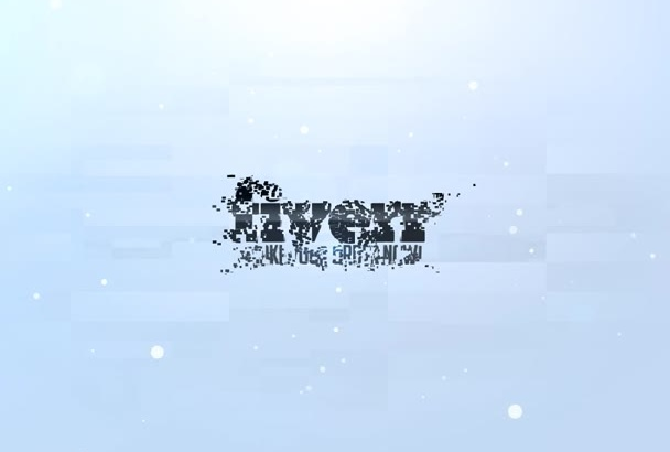 create 2 PROFESSIONAL and clean intro for your logo or text