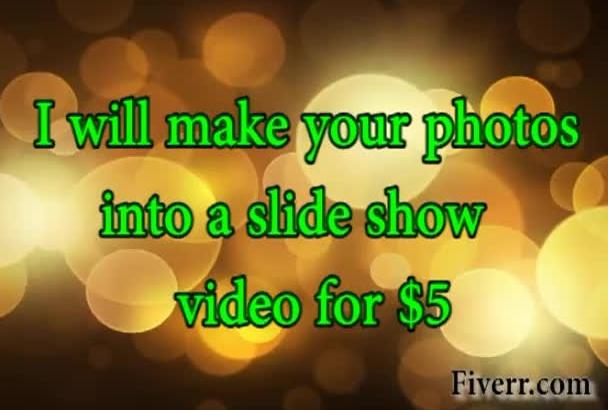 make your photos into a slideshow video