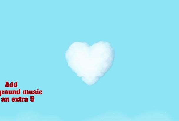 hacer un video de San Valentín con tu Nombre o Logo