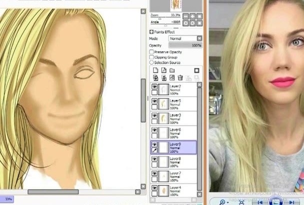 do realistic cartoon portrait from your photo or your idea