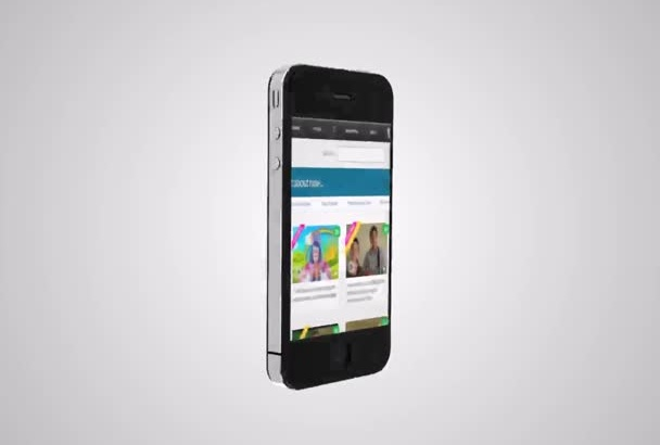 do a 3D iphone mobile app promo