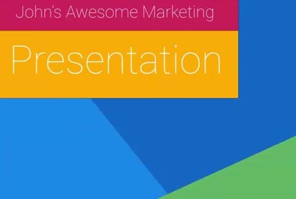 make Marketing Presentation in Google Style