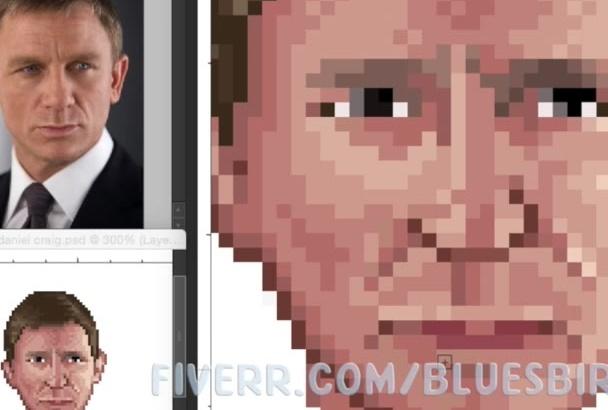 convert your photo into pixel art