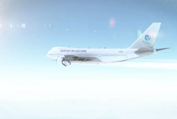 advertise anything on a moving Jumbo Jet Airplane