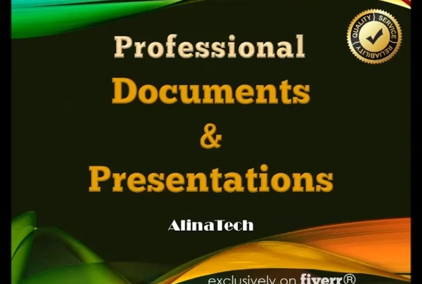 design a professional presentation or brochure