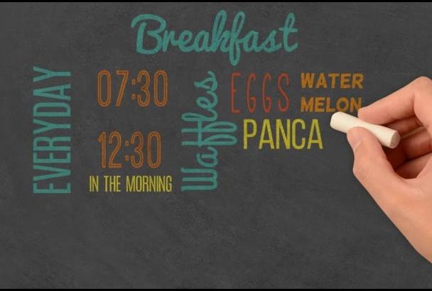 create commercial in chalkboard or blackboard style