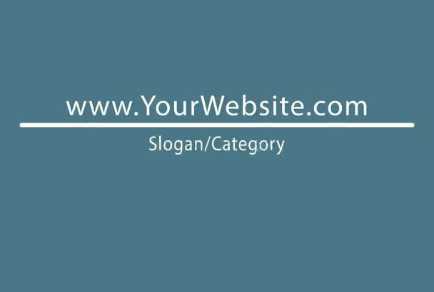 make a typography website EXPLAINER animation