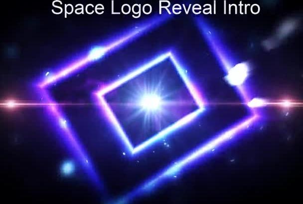 make you an space logo reveal intro