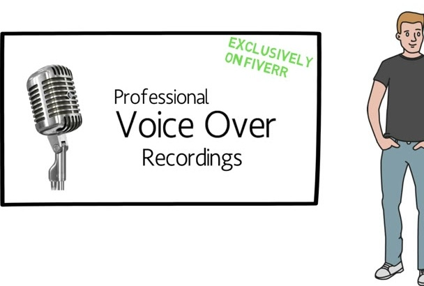 record a Professional Voice Over for Marketing Videos