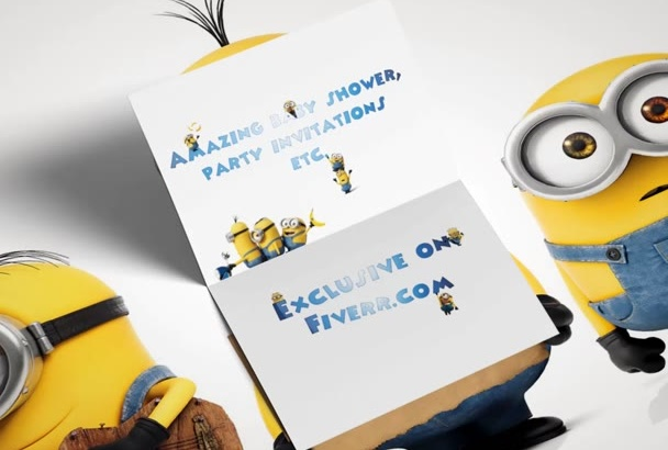 create an amazing baby shower party invitation