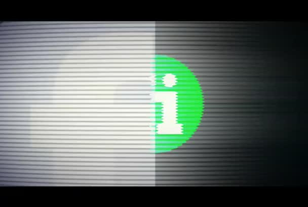 make a cool GLITCH logo intro