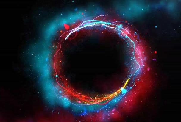 make Galaxy Lights LOGO intro