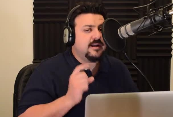record a hyped and enthusiastic male voice over