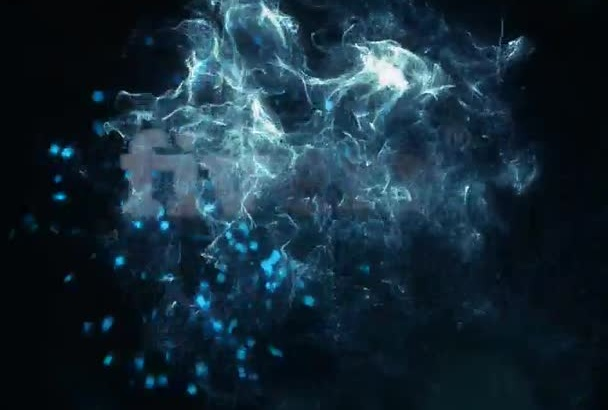 make futuristic video intro with your logo