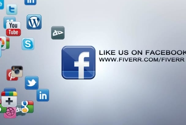 make an intro with your social networks and logo