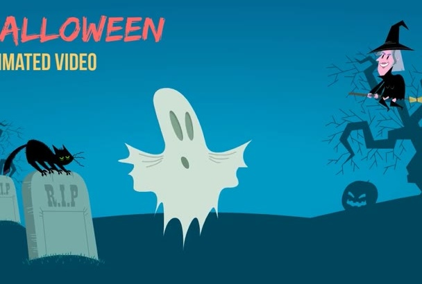 create an animated Halloween video