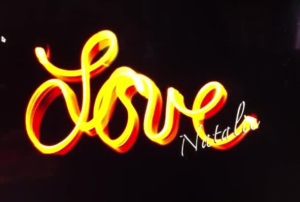 write Your Name or Anything in Lights with Light writing