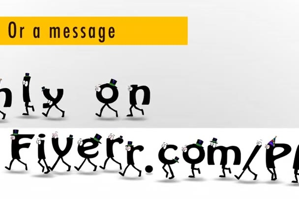 make a CARTOON font animation of your website or a message