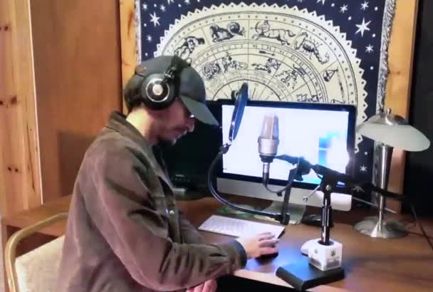 record a VOICEOVER for your radio show or podcast