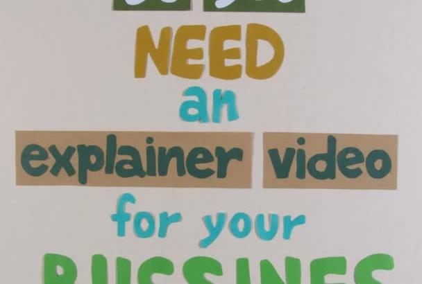 make an explainer stop motion video,
