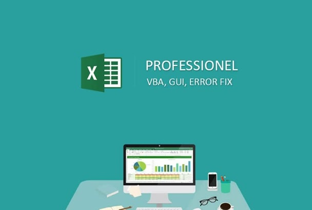 create Excel VBA macro gui, code or fix errors